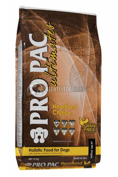 Pro Pac Ultimates - Heartland Choice Csirke & Burgonya gabonamentes kutyatáp 12kg