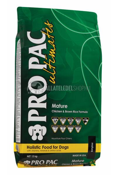 Pro Pac Ultimates - Mature Csirke & Barna Rizs kutyatáp 12kg