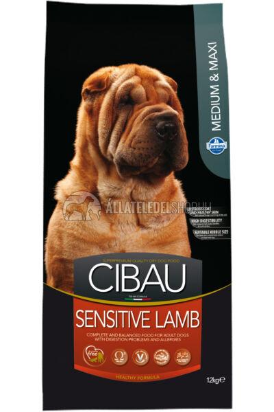 Cibau - Sensitive Lamb Medium & Maxi Bárányos hypoallergén kutyatáp 12Kg