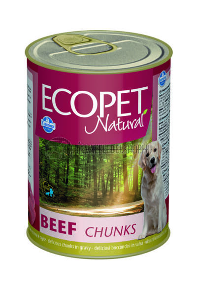 Ecopet Natural - Marhás kutyakonzerv 405g
