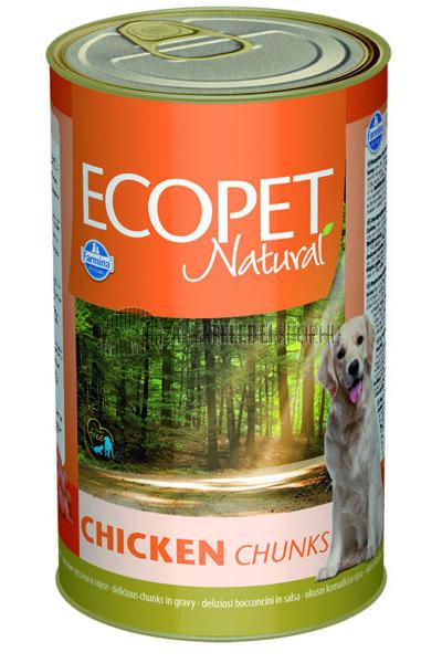 Ecopet Natural - Csirkés kutyakonzerv 1240g