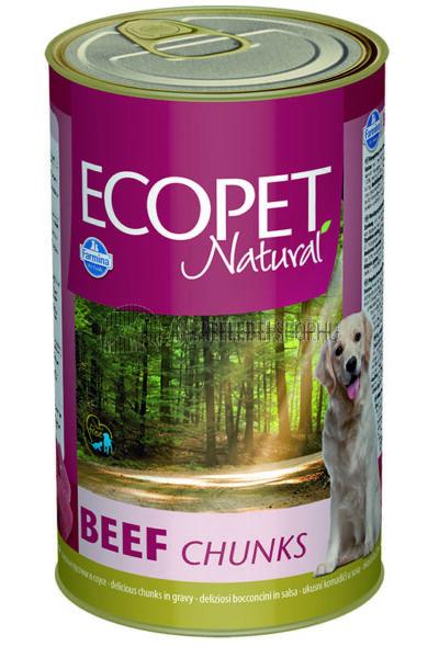 Ecopet Natural - Marhás kutyakonzerv 1240g