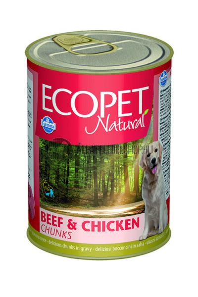 Ecopet Natural - Marhás & Csirkés kutyakonzerv 1240g