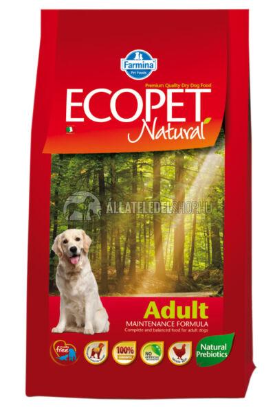 Ecopet - Natural Adult Csirke húsos kutyatáp 2,5Kg