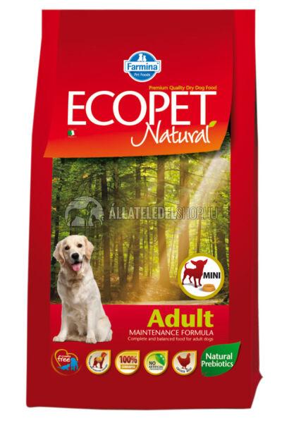 Ecopet - Natural Adult Mini Csirke húsos kutyatáp 2,5Kg