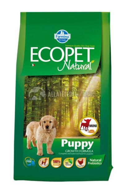 Ecopet - Natural Puppy Mini Csirke húsos kutyatáp 12Kg