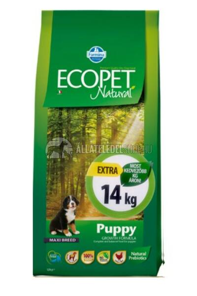 Ecopet - Natural Puppy Maxi Csirke húsos kutyatáp 14Kg
