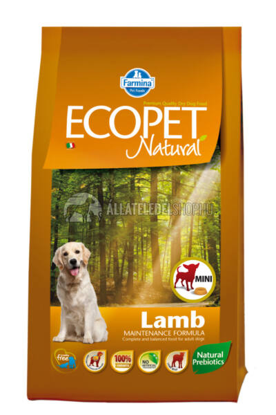 Kutyatáp - Ecopet Natural Lamb Mini 14KG