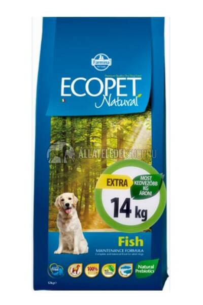 Kutyatáp - Ecopet Natural Fish 14KG