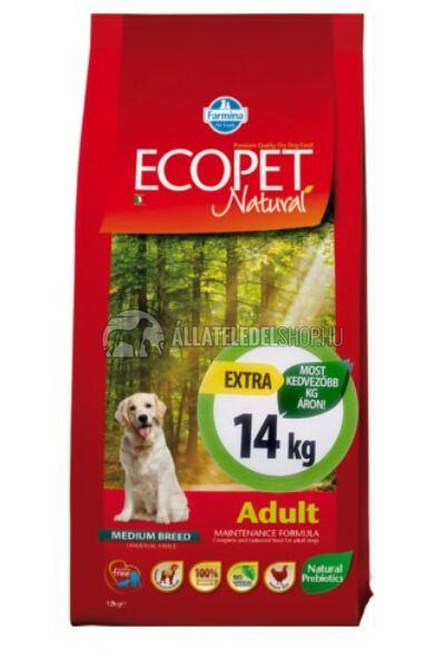 Ecopet - Natural Adult Medium Csirke húsos kutyatáp 14Kg