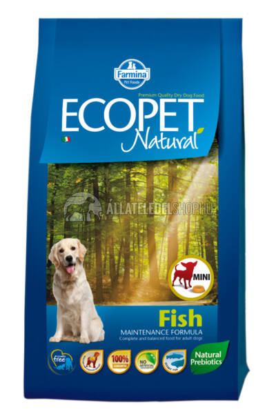 Ecopet - Natural Halas Mini kutyatáp 12Kg