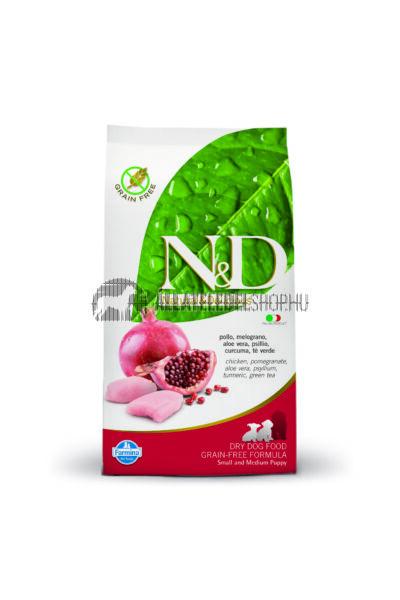 N&D - Puppy - Small & Medium Csirke & Gránátalma gabonamentes kutyatáp 2,5Kg