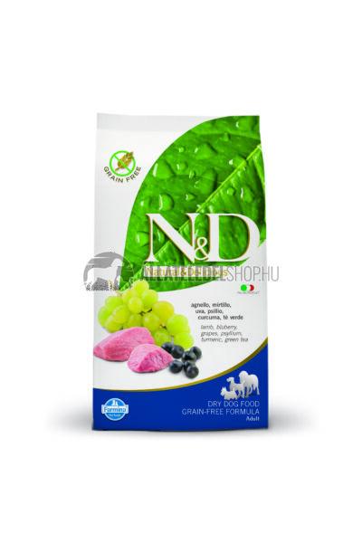 N&D - Adult Bárány & Áfonya gabonamentes és hypoallergén kutyatáp 12Kg