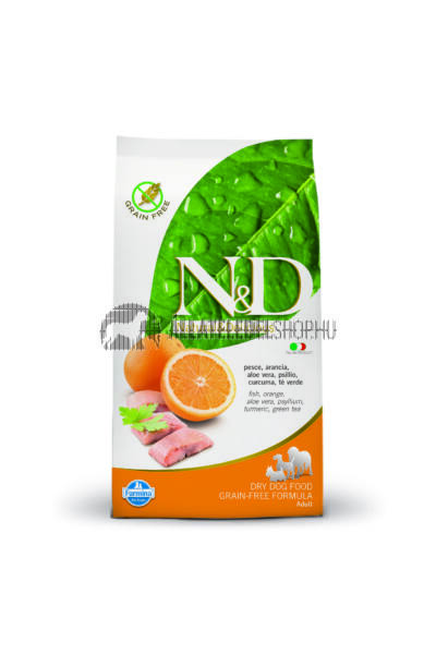 N&D - Adult Hal & Narancs gabonamentes és hypoallergén kutyatáp 12Kg