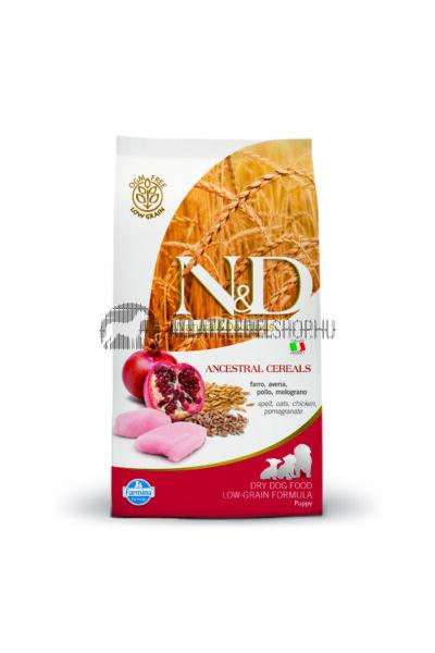 N&D - Puppy Adult Csirke & Gránátalma csökkentett gabonatartalmú kutyatáp 12Kg
