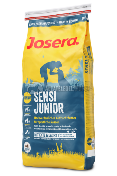 Josera - Junior SensiJunior - Kacsa és Lazac kutyatáp 15kg