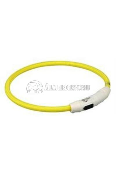 Trixie - Safer Life USB Flash Light Ring - Nyakkarika L-Xl 65cm/7mm Sárga
