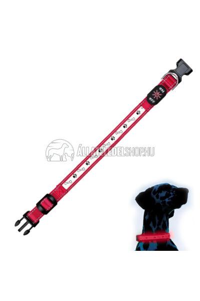 Trixie - Safer Life USB világító nyakörv Piros L-XL 50-60cm/25mm