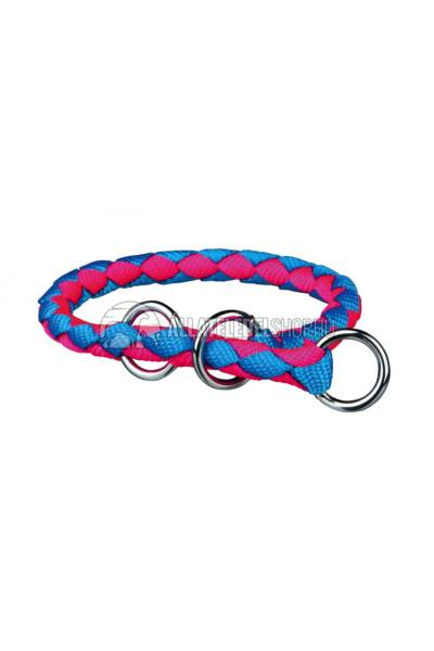 Trixie - Cavo Fojtó Nyakörv Fonott Neon kék - Neon pink M-L 43-51cm / 18cm
