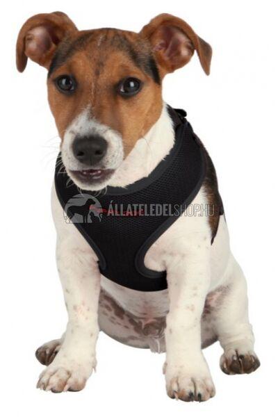 Trixie - Puppy  Soft Kölyök szett hámmal, pórázzal Fekete 26-34cm / 10mm / 2m