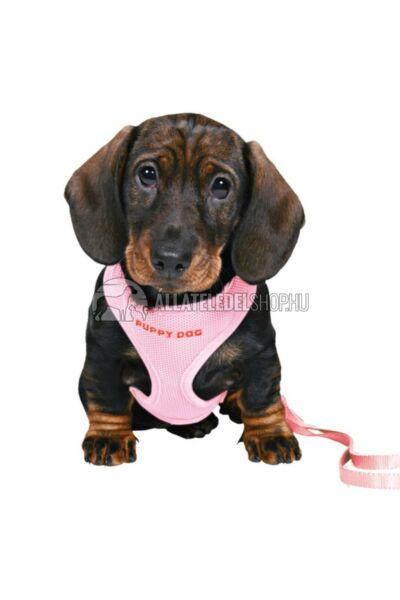 Trixie - Puppy  Soft Kölyök szett hámmal, pórázzal Pink 26-34cm / 10mm / 2m