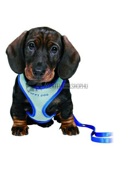 Trixie - Puppy  Soft Kölyök szett hámmal, pórázzal Kék 26-34cm / 10mm / 2m