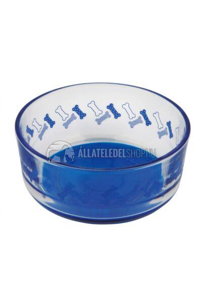 Trixie - Tál üveg csont mintával 0,4l/12cm kék