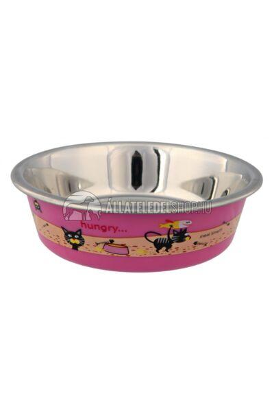 Trixie - Cat Hungy Fém Tál Műanyag Bevonattal 0,25l/12cm