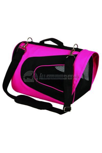 Trixie - Szállítótáska Alina Nylon Pink - Fekete 22×23×35cm/5kg