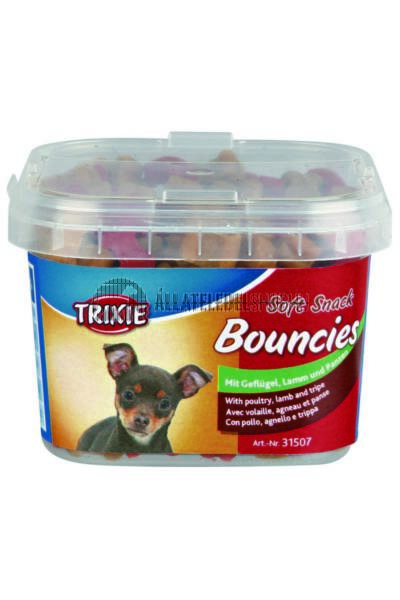 Trixie - Soft Snack Bouncies Baromfi-Bárány-Paca Vödrös 140g