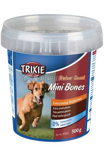 Trixie - Trainer Snack Mini bones Marha-Bárány-Baromfi vödrös 500g
