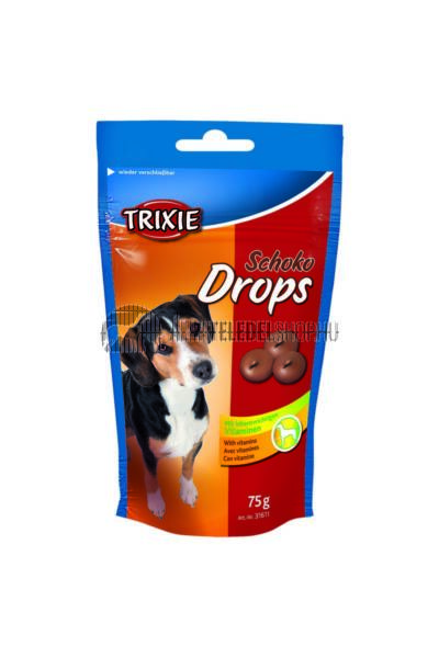 Trixie - Jutalomfalat Csokoládé Drops 75g