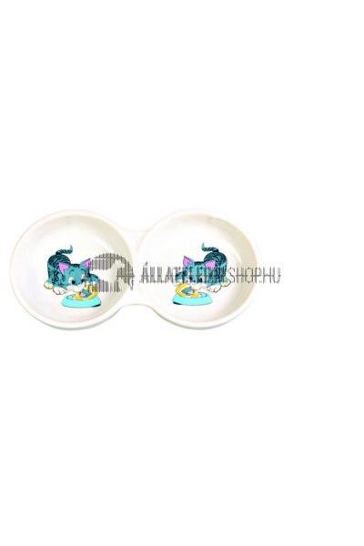 Trixie - Kerámia Dupla Tál Macskának 2x0,15l/11cm Fehér