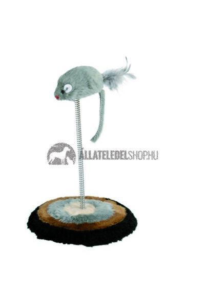 Trixie macska játék - Rugós Egérrel 15x22cm