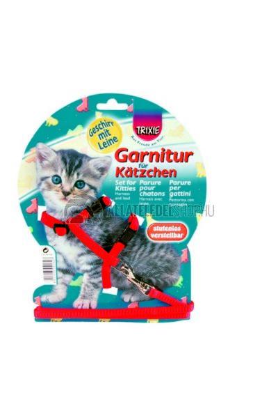Trixie - Kitten Hám és Póráz Kölyök Macskának Nylon 19-31cm/8mm 1,2m