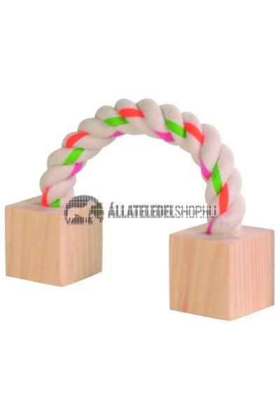 Trixie - Játék Rágcsálónak Rágókötél 2 Fával 20cm