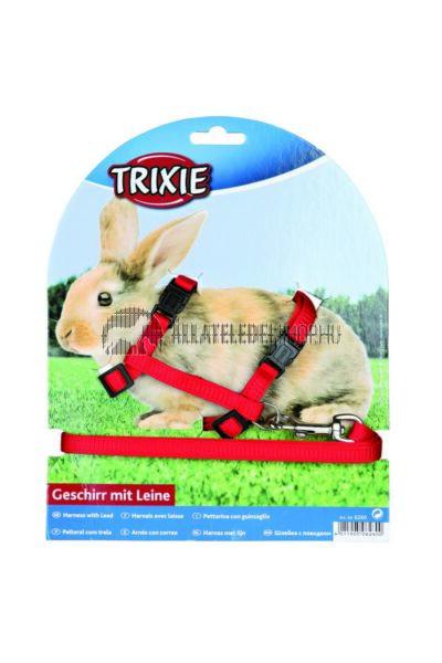 Trixie - Hám Pórázzal Nylon Nyulaknak 25–44cm / 10mm 1,25m