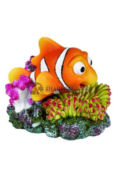 Trixie - Akvárium Dekor Kerámia Bohóchal Korallal Levegőpumpás 12x10