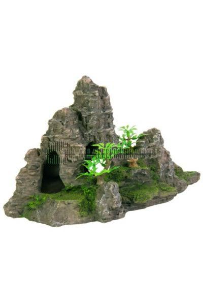 Trixie - Akvárium Dekor Szikla, Barlan, Növény 22x11x13cm