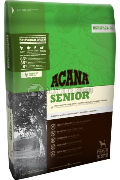 Acana - Senior Dog Csirke - Hal - Zöldség Mini gabonamentes kutyatáp