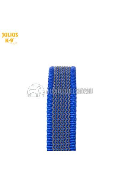 """Julius K-9  Color & gray - Gumis póráz - Blue-Gray - """"D"""" karikával – 1.8 m / 20 mm"""