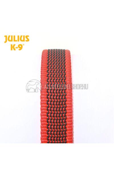 "Julius K-9  Color & gray - Gumis póráz - Red-Gray - ""D"" karikával – 2 m / 20 mm"