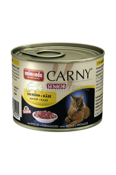 Animonda macskaeledel - Carny Senior Csirke macskakonzerv 200g