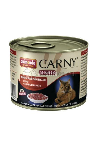 Animonda macskaeledel - Carny Senior Marha macskakonzerv 200g