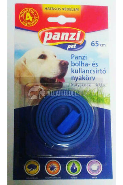 Panzi bliszteres bolhaírtó nyakörv kutyáknak kék