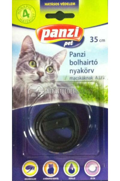 Panzi bliszteres bolhaírtó nyakörv macskáknak fekete