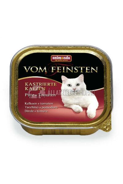 Animonda macskaeledel - Vom Feinsten Pulyka & Paradicsom alutasakos ivartalanított macskáknak 100g