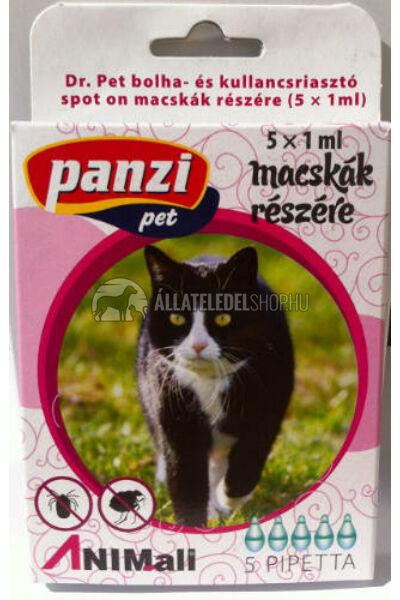 Panzi Dr.Pet spot on bolhariasztó csepp cica