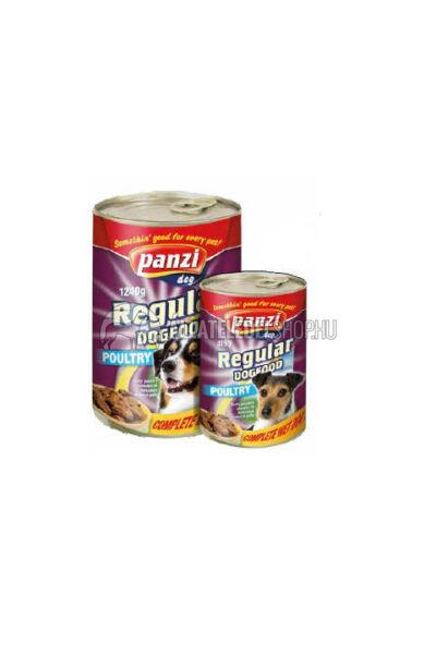 Panzi - Dog Regular Szárnyas kutyakonzerv 415g