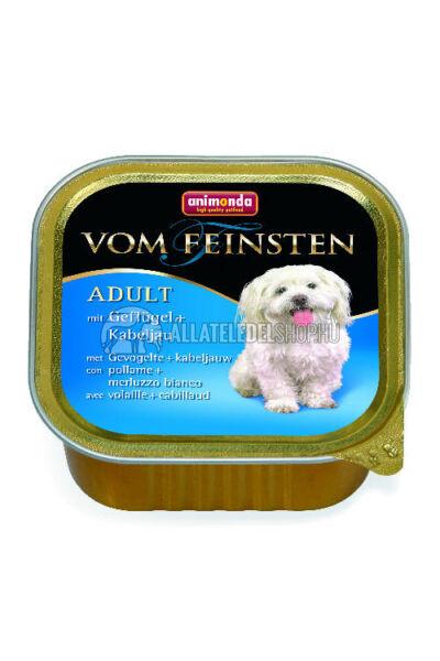 Animonda - Vom Feinsten Adult Baromfi & Tőkehal alutasakos kutyáknak 150g